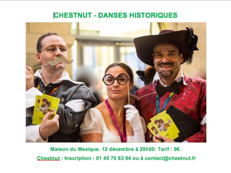 CHESTNUT – DANSES HISTORIQUES – 12 décembre