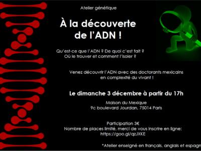 À la découverte de l'ADN – 3 décembre