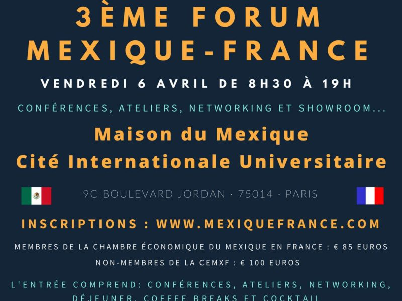 3ème Forum Mexique-France – 6 avril 2018