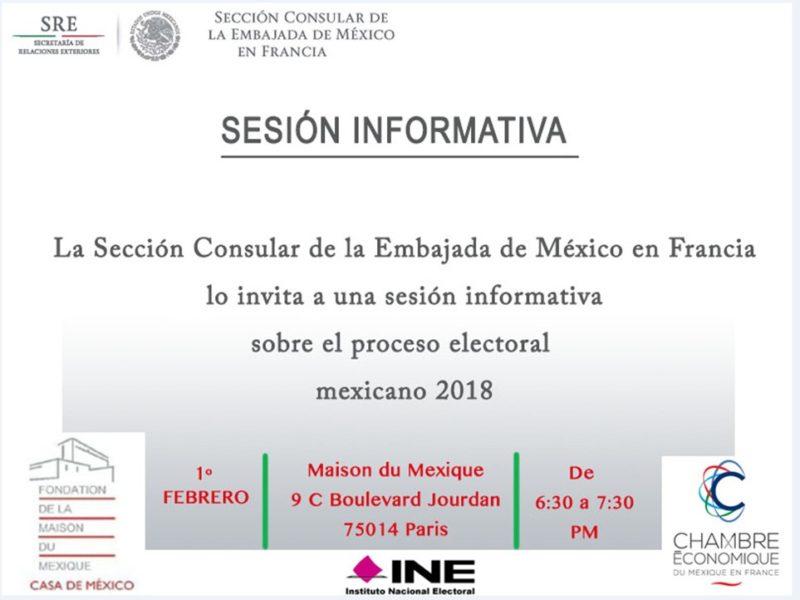 Sesión Informativa Proceso Electoral 1er février