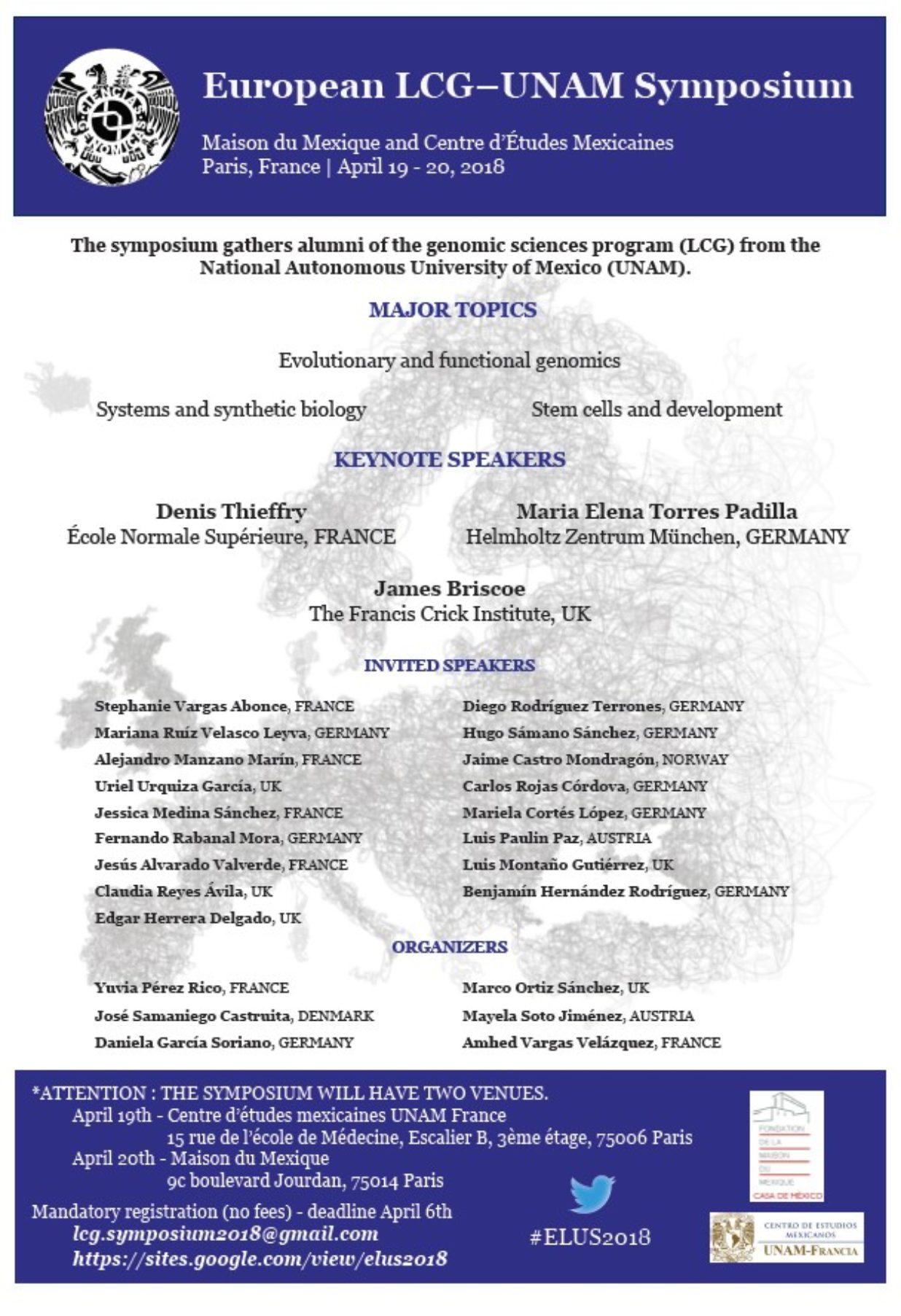 Simposium UNAM avril 19-20