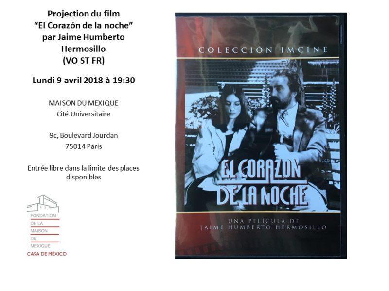 Film, El corazón de la noche – 9 avril 2018