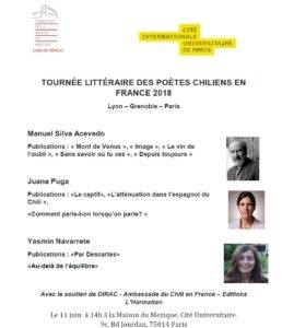 11Juin Tournée de poetes chiliens