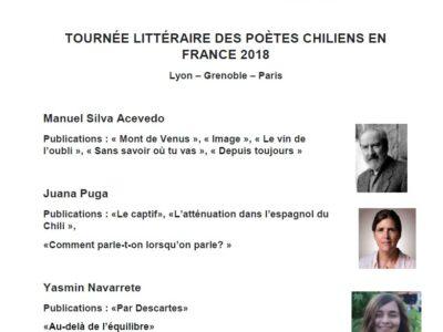 Tournée Littéraire des Poètes Chiliens en France 2018 – 11 Juin 2018