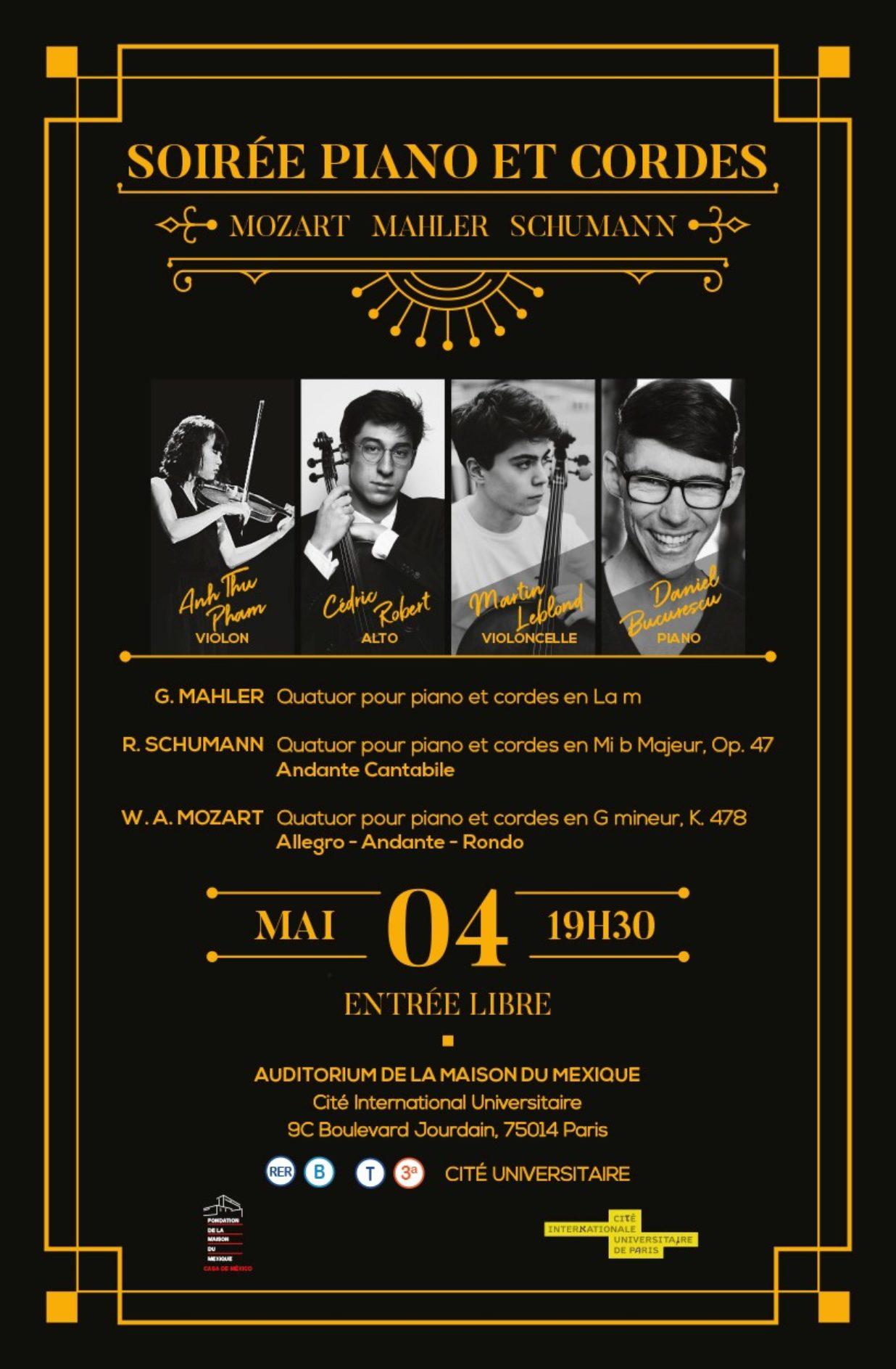 Soirée Piano et Cordes - 4 mai