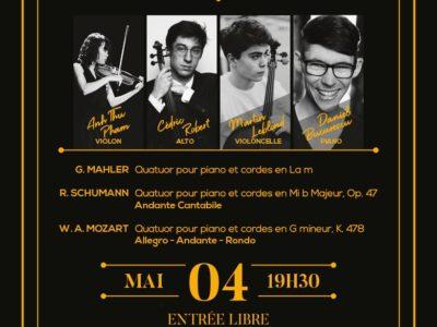 Concert, Soirée Piano et Cordes -4 mai