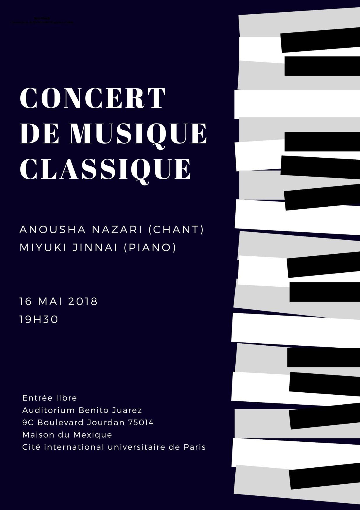 Concert de Musique Classique 16 mai 2018