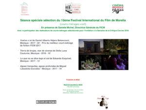 Invitation Cinéma Mexique Paris séance spéciale FICM 22 mai 2018 Maison du Mexique
