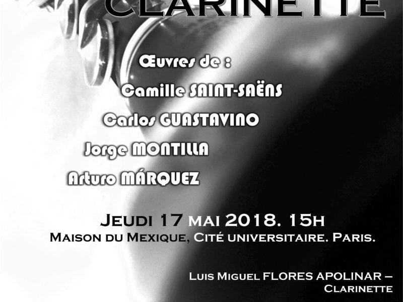 Récital Clarinette – 17 mai 2018