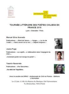 12Juin Tournée de poetes chiliens