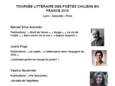 Tournée Littéraire des Poètes Chiliens en France – 12 juin 2018