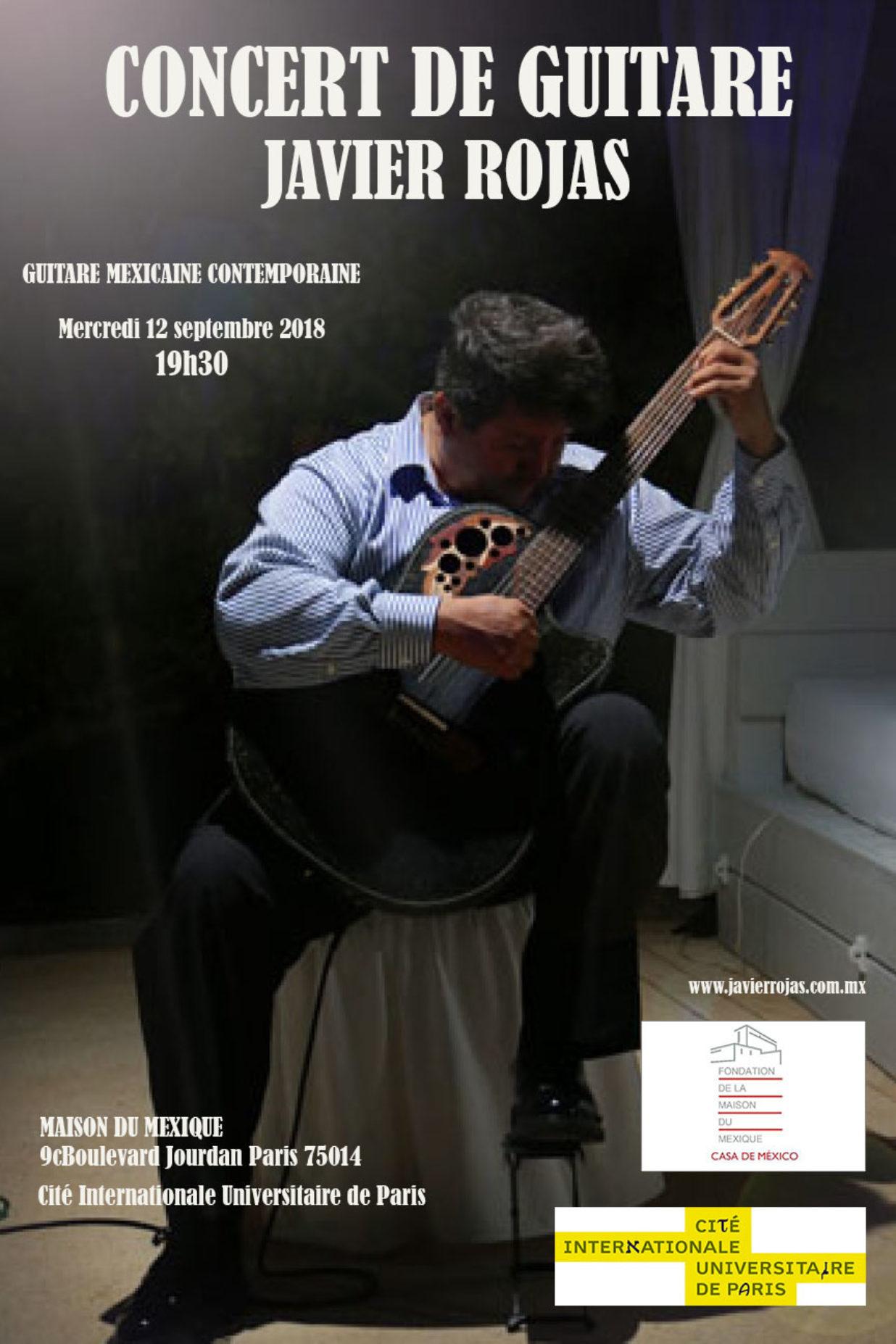 Cartel Concert de guitare Maison du Mexique