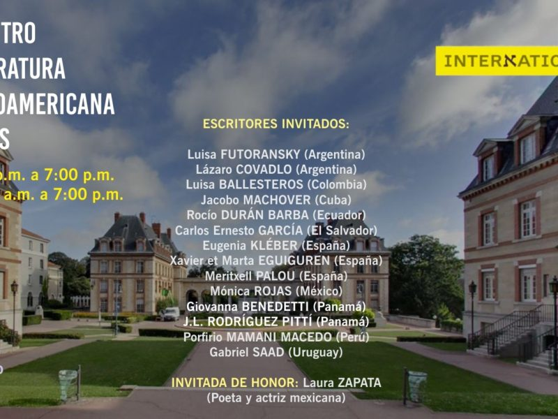 2do. Encuentro de Literatura Hispanoaméricana en París – 20 y 21 septiembre 2018