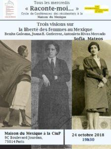 Affiche Sofía Mateos 24 octobre