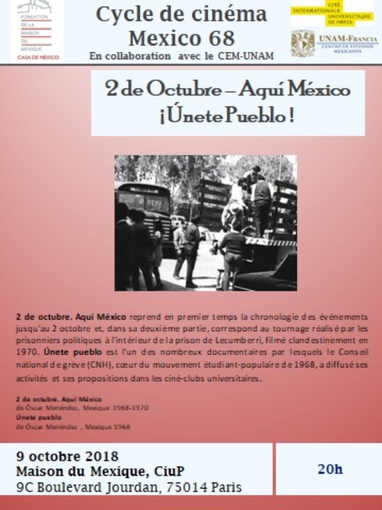 Mexico 68 9 octubre 2018