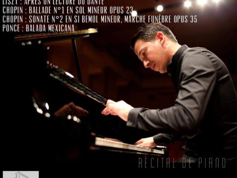 Récital de Piano par Alejandro Varela, – Jeudi 7 mars 2019 – 20h