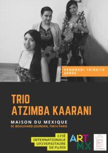 19 avril Arte MEX Trio Atzimba