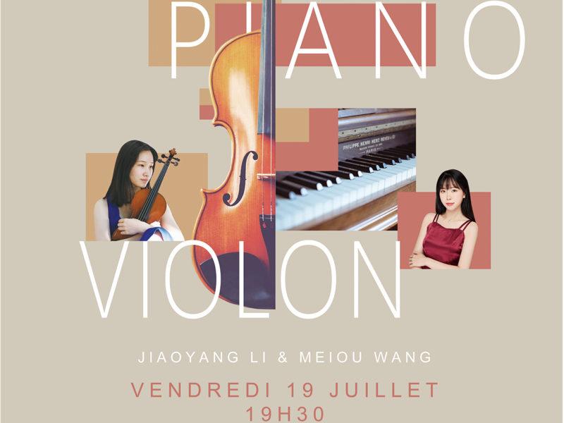 Concert de Piano et Violon, vendredi 19 juillet 2019 – 19h30