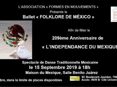 Spectacle de Danse Mexicaine, le 15 septembre 2019, 18h