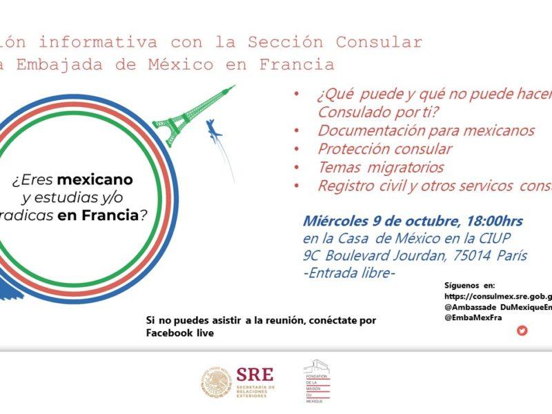 Reunión Informativa con la Sección Consular, mercredi 9 octobre – 18h