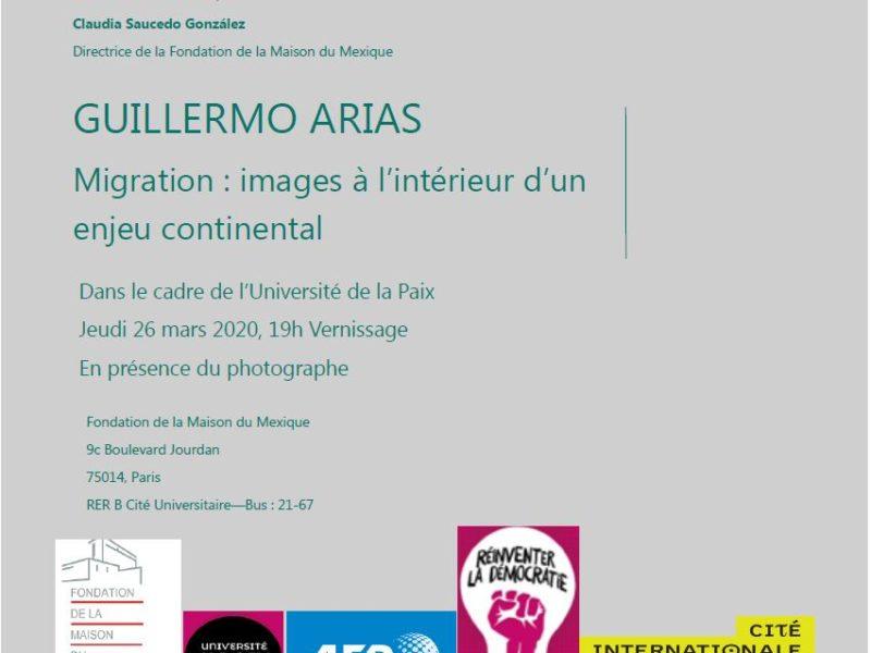 """Vernissage Exposition """"Migration: images à l'intérieur d'un enjeu continental"""" , jeudi 26 mars 2020 – 19h"""