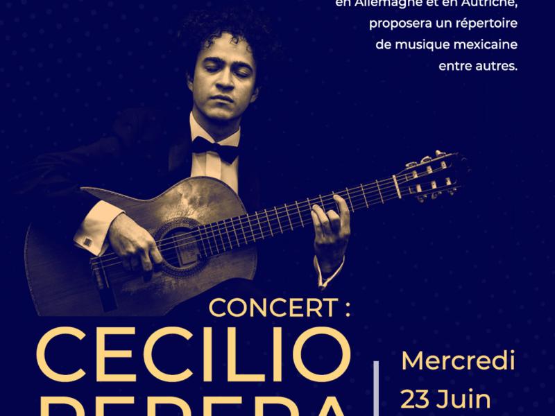 Concert de guitare: Cecilio Perera, Mercredi 23 juin – 19h
