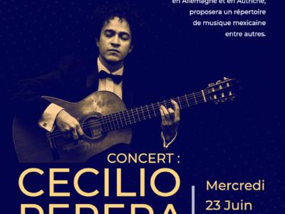 Concierto de guitarra: Cecilio Perera, Miércoles 23 de junio – 19h